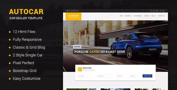 Autocar - Car Dealer Template