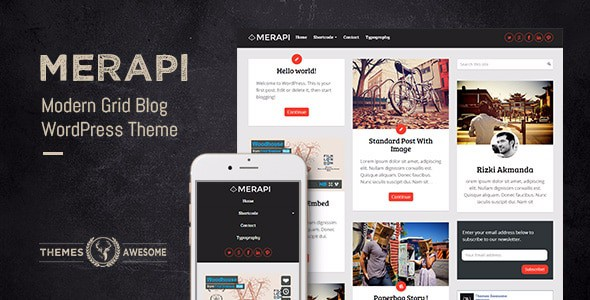 Merapi - Modern Grid Blog Theme