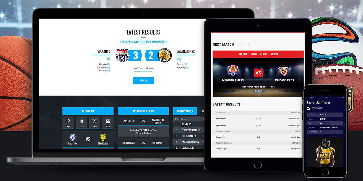 Splash - Sport WordPress Theme for Football, Soccer, Basketball, Baseball, Sport club