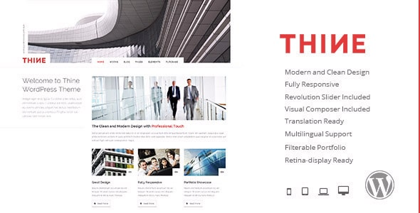 Thine Responsive Modern WordPress Theme
