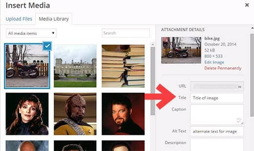 How to Add Image Title in WordPress
