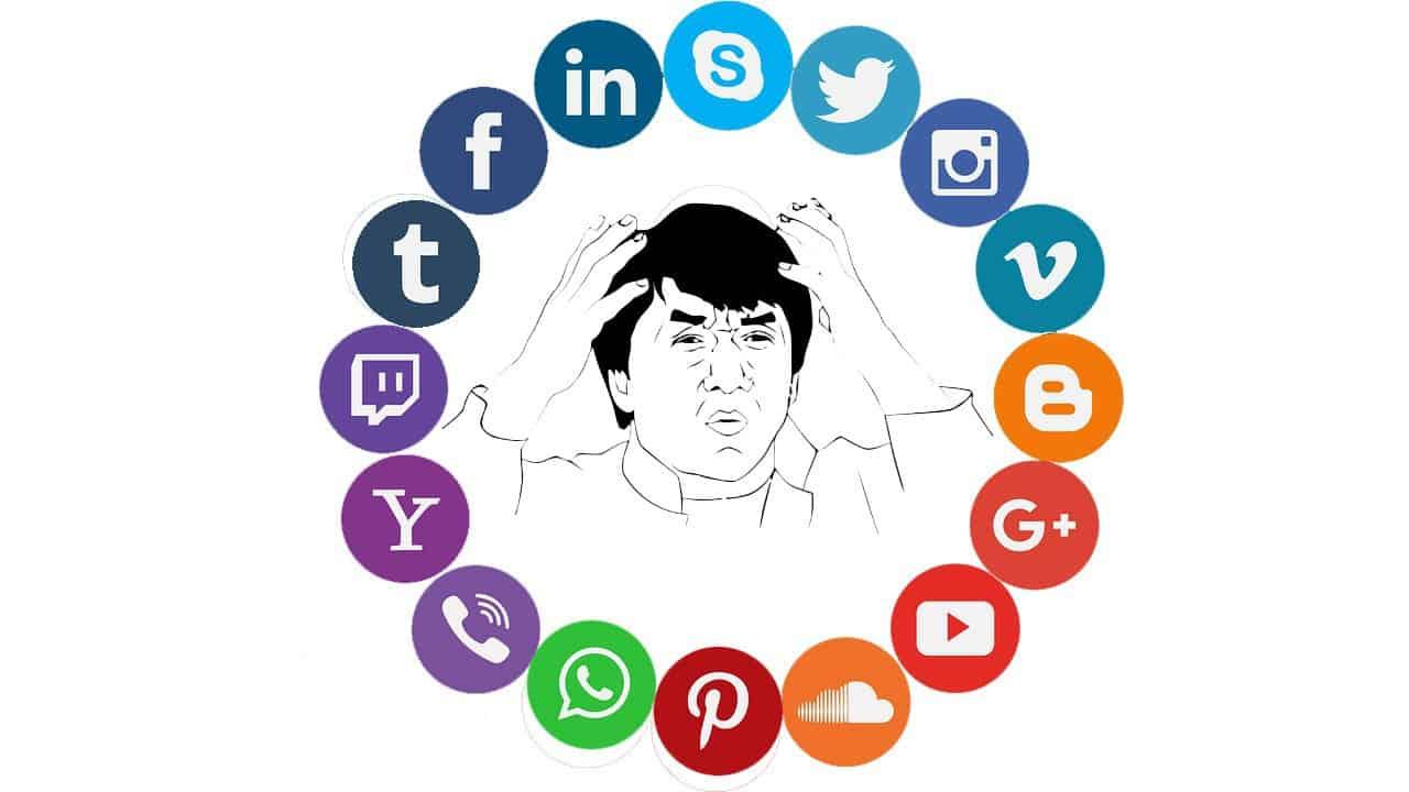 Choose social media buttons