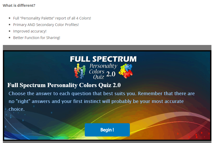 Full Spectrum Quiz