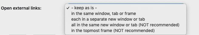 open external links options screenshot