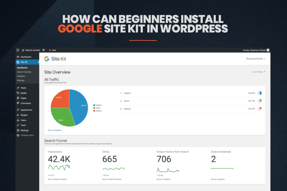 How Beginners can install Google Site Kit in WordPress