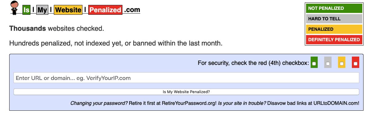 Is my Website Penalized