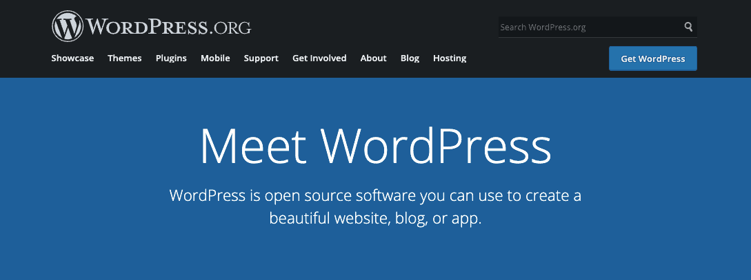 WordPress org.