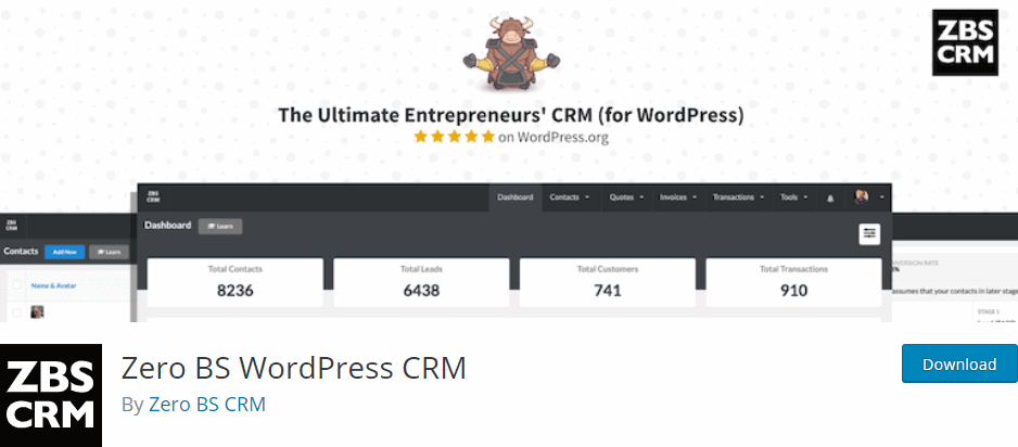 Zero BS WordPress CRM