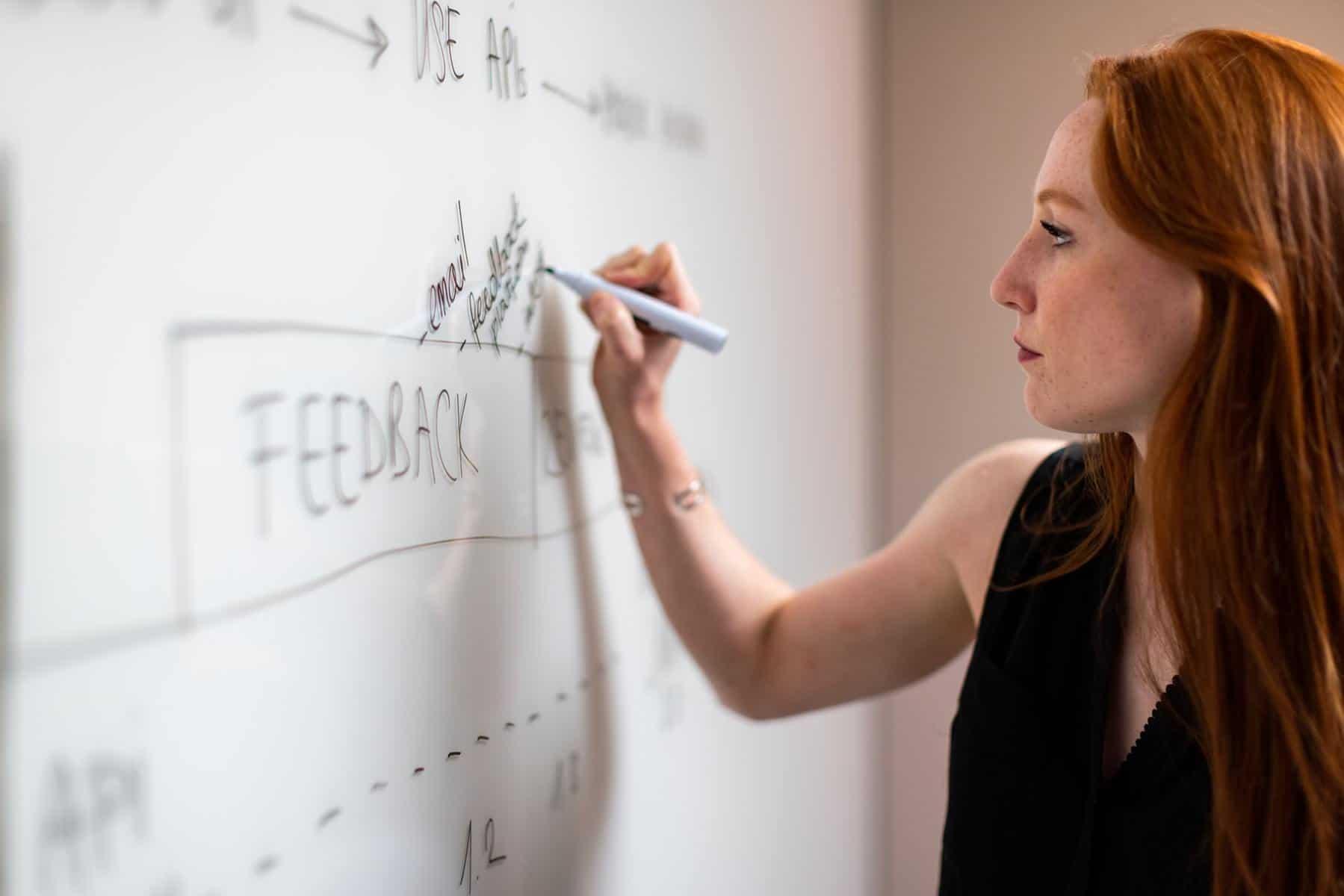 Woman planning