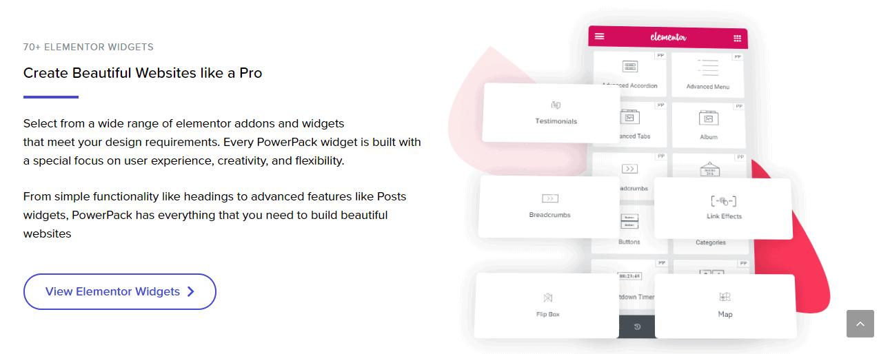 PowerPack widgets banner