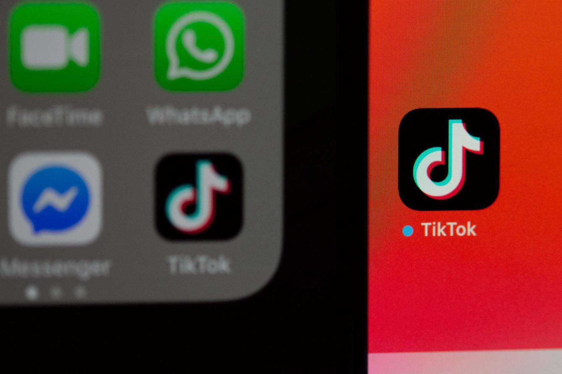 TikTok app up close
