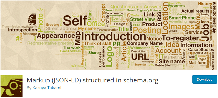Markup (JSON-LD) structured in schema.org