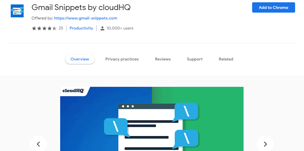 Gmail Snippets by cloudHQ