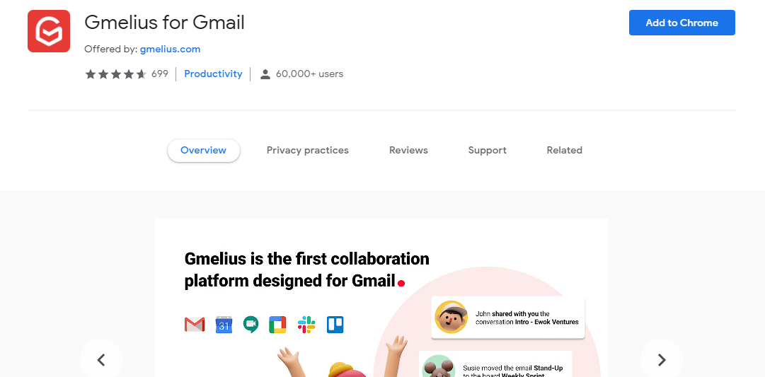 Gmelius for Gmail