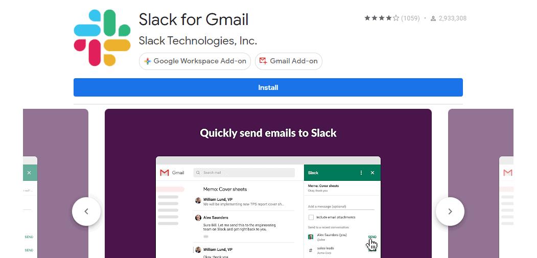Slack for Gmail