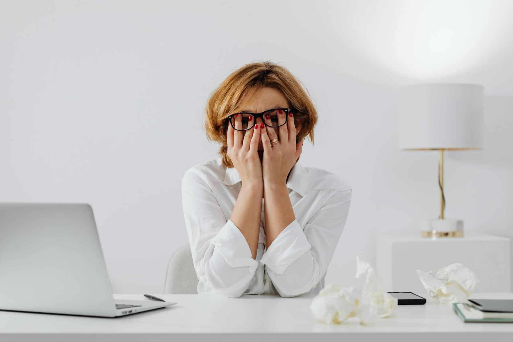 Woman very stressed
