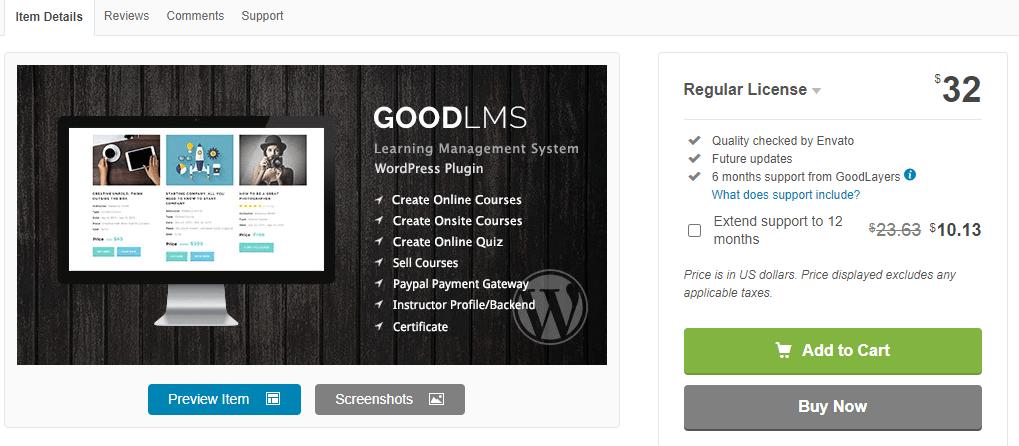 Good LMS – Learning Management System WordPress Plugin