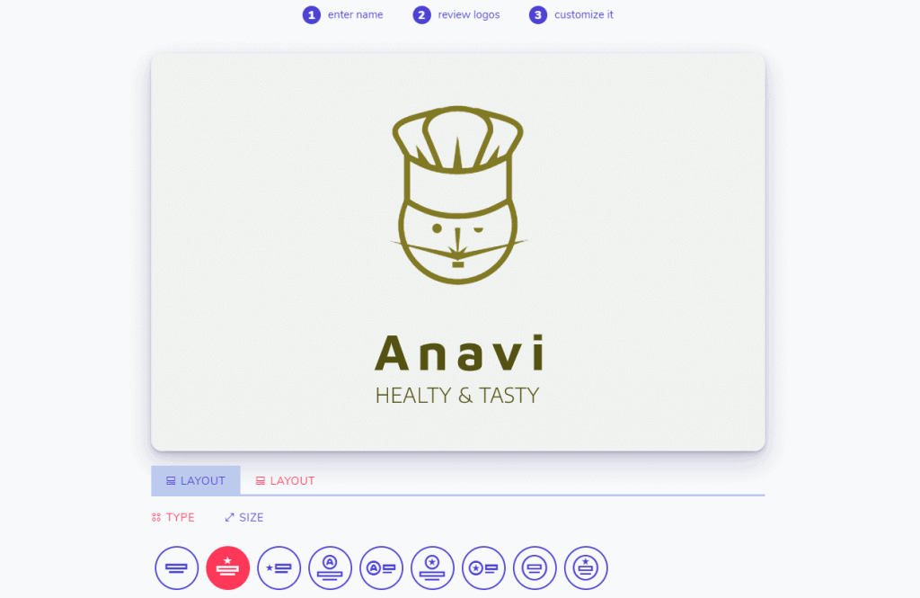 Logo size customization