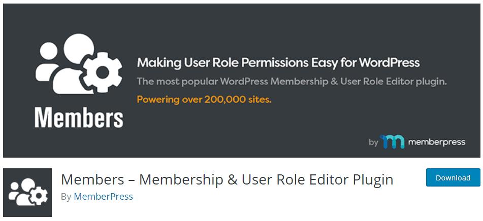Members-membership & user role editor plugin add users app banner
