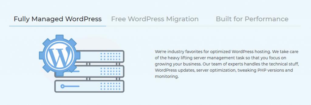 MilesWeb managed WordPress hosting overview