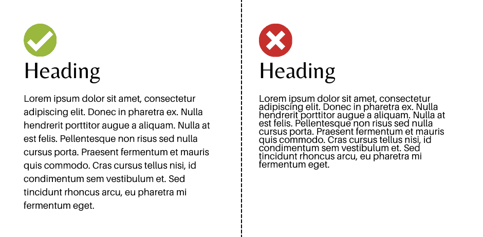 White space affecting readability