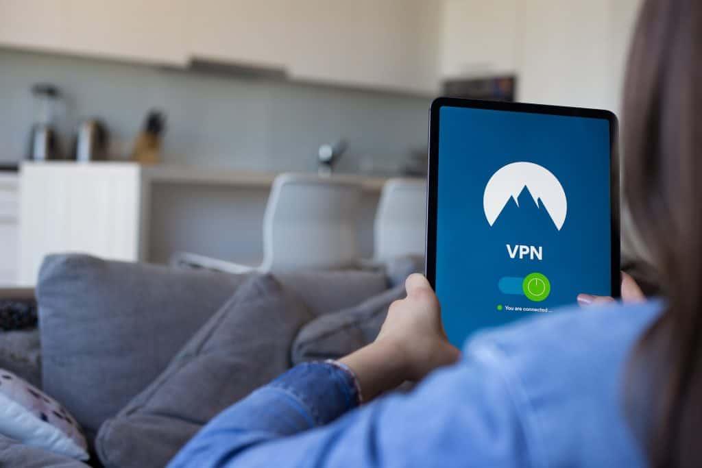 Girl using VPN